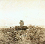 Landscape with Grave, Coffin and Owl