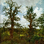 Landscape with Trees and a Hunter