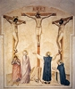 Crucifixion with Mourners and Sts Dominic and Thomas Aquinas