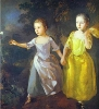 The Painters Daughters Margaret and Mary, Chasing a Butterfly