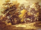 Wooded Landscape with a Wagon in the Shade