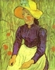 Peasant Woman with Straw Hat. Auvers-sur-Oise